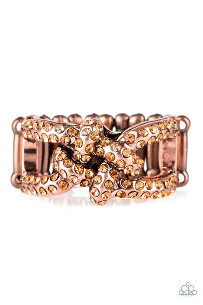 Paparazzi Can Only Go UPSCALE From Here - Copper Ring - Princess Glam Shop