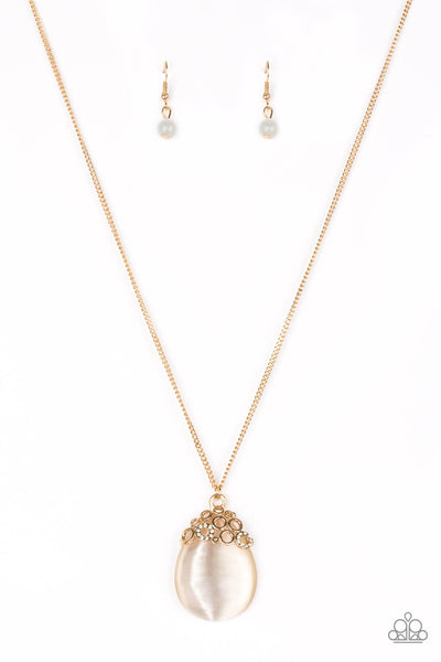 Paparazzi Nightcap and Gown - Gold Necklace Set - Princess Glam Shop