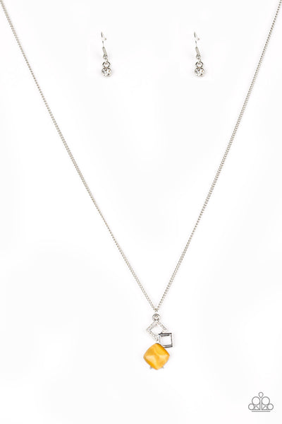 Paparazzi Stylishly Square - Yellow Necklace Set - Princess Glam Shop