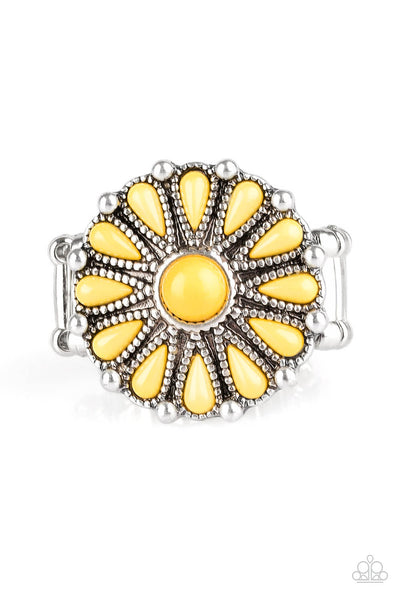 Paparazzi Poppy Pop-tastic - Yellow Ring - Princess Glam Shop