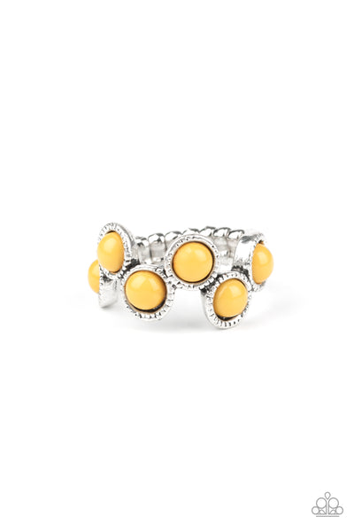 Paparazzi Foxy Fabulous - Yellow Ring - Princess Glam Shop