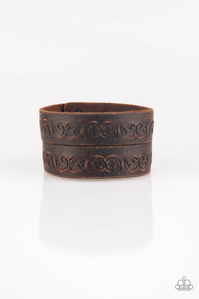 Paparazzi Ride and Wrangle - Brown Bracelet - Princess Glam Shop