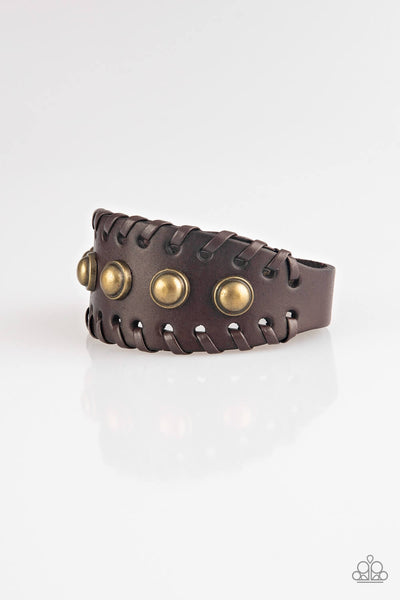 Paparzzi Urban Cowboy - Brown Bracelet - Princess Glam Shop