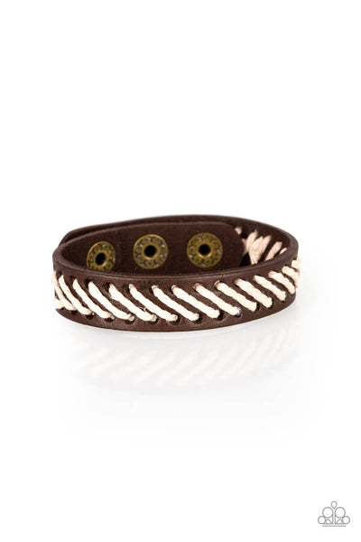 Paparazzi Watch Your BACKPACKER - Brown Bracelet - Princess Glam Shop