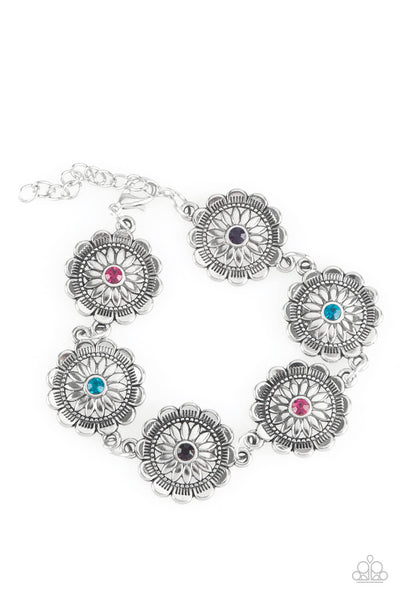 Paparazzi Funky Flower Child - Multi Flower Bracelet - Princess Glam Shop