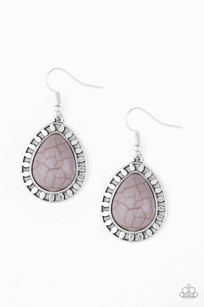 Paparazzi Sahara Serenity - Silver Earrings - Princess Glam Shop