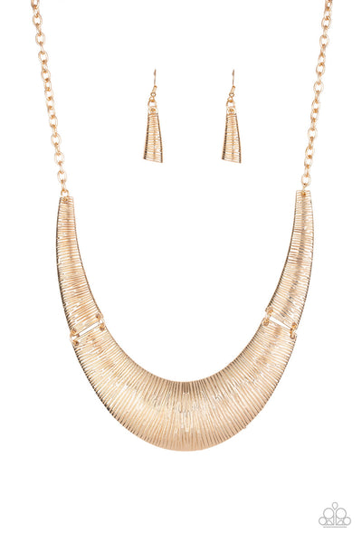 Paparazzi Feast or Famine - Gold Necklace Set - Princess Glam Shop