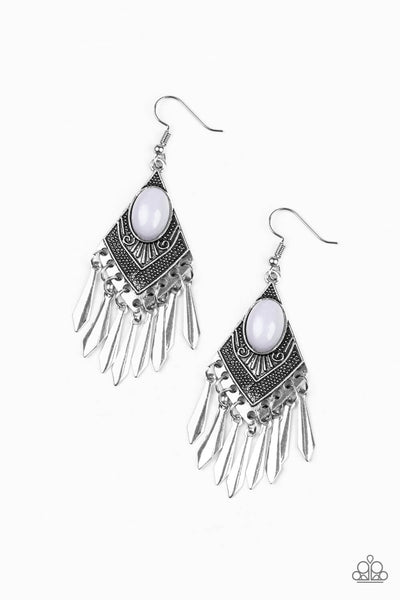 PaparazziMostly Monte-ZUMBA - Silver Earrings - Princess Glam Shop