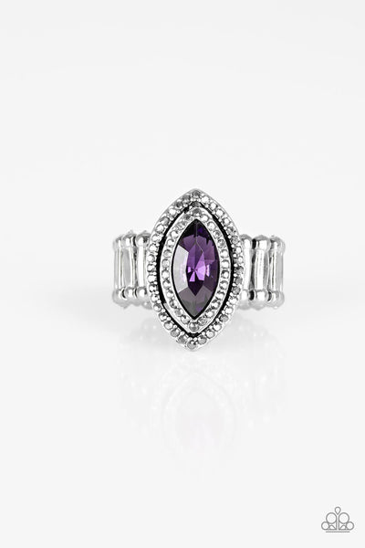 Paparazzi Modern Millionaire - Purple Marquise Ring - Princess Glam Shop