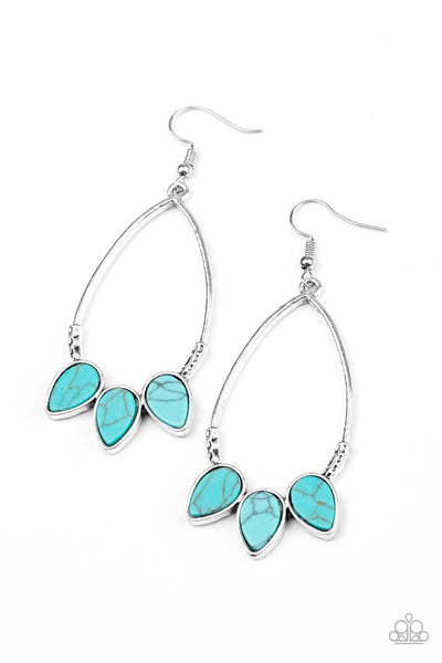 Paparazzi Fierce Frontier - Blue Earrings - Princess Glam Shop