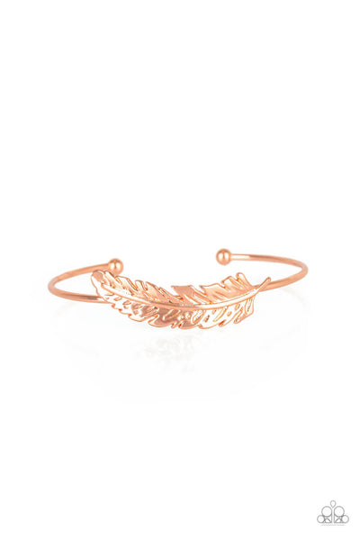 Paparazzi How Do You Like This FEATHER? - Copper Bracelet - Princess Glam Shop