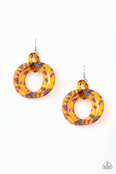 Paparazzi Retro Riviera - Acrylic Hoop Earrings - Princess Glam Shop