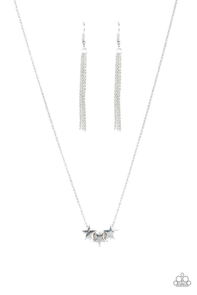 Paparazzi Shoot For The Stars - Silver Necklace Set - Princess Glam Shop