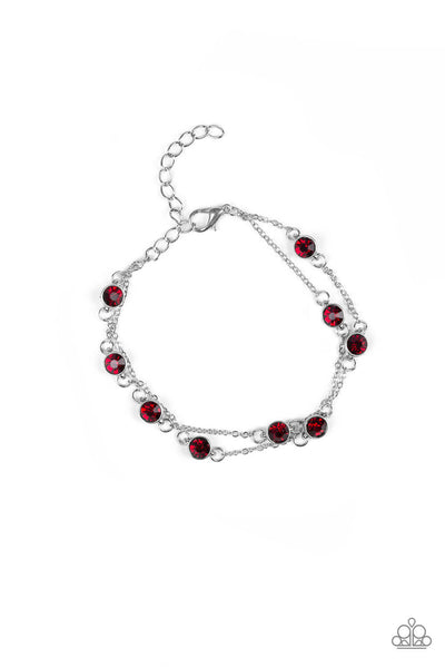 Paparazzi Spotlight Starlight Bracelet - Red - Princess Glam Shop