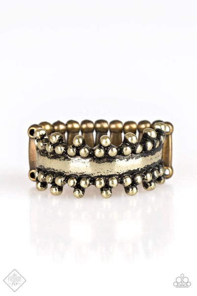 Paparazzi Heavy Metal Muse Brass Ring - Princess Glam Shop