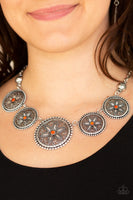 Paparazzi Written In The STAR LILIES - Orange Necklace Set - Princess Glam Shop