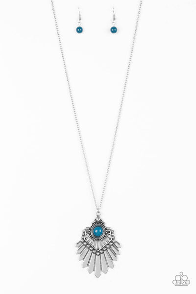 Paparazzi Inde-PENDANT Idol Blue Necklace Set - Princess Glam Shop