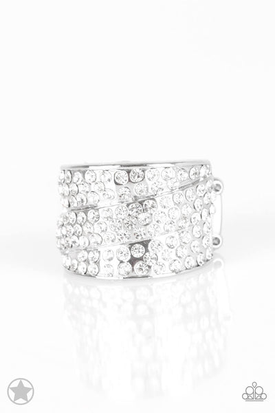 Paparazzi The Millionaires Club - White Ring - Princess Glam Shop
