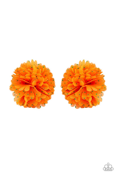 Paparazzi Pretty In Primrose - Orange Starlet Shimmer Hair Clip - PrincessGlamShop