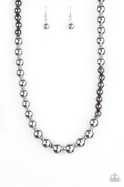 Paparazzi Power To The People - Silver Bead Necklace Set - Princess Glam Shop