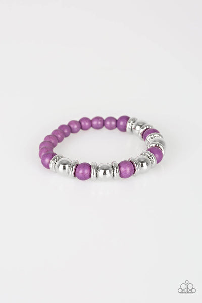 Paparazzi Across the Mesa - Purple Bracelet - Princess Glam Shop