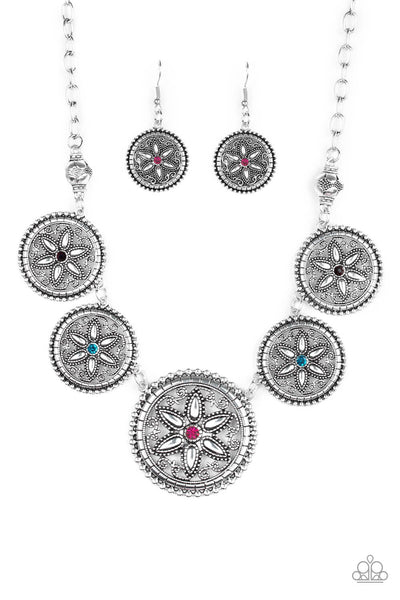 SOLD OUT Paparazzi Written In The STAR LILIES - Multi Colored Necklace Set - Princess Glam Shop