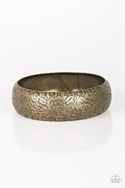 Paparazzi Garden Villa - Brass Bangle Bracelet - Princess Glam Shop