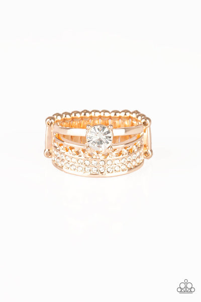 Paparazzi The Overachiever Rose Gold Ring - Princess Glam Shop