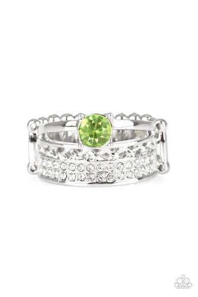 Paparazzi The Overachiever Green Ring - Princess Glam Shop