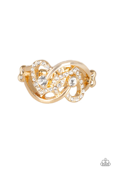 Paparazzi Have The World On A HEART-String - Gold Ring - Princess Glam Shop