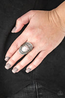 Paparazzi Royal Roamer - Silver/Gray Stone Ring - Princess Glam Shop