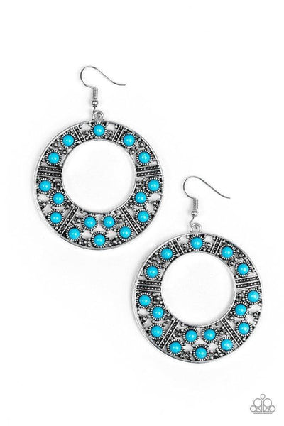 Paparazzi San Diego Samba - Blue Earrings - Princess Glam Shop