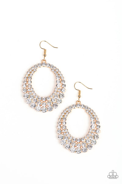 Paparazzi Universal Shimmer - Gold Earrings - Princess Glam Shop
