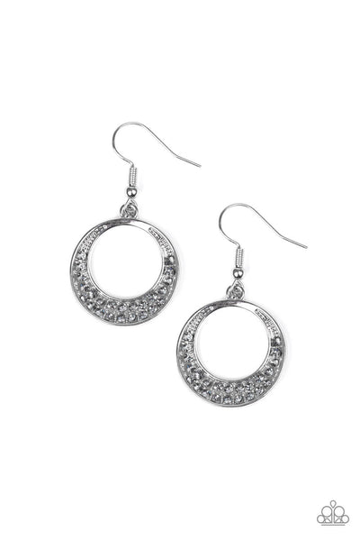 Paparazzi Socialite Luster - Silver Earrings - Princess Glam Shop