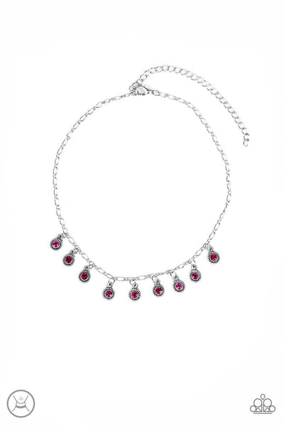 Paparazzi Popstar Party Pink Choker Necklace Set - Princess Glam Shop