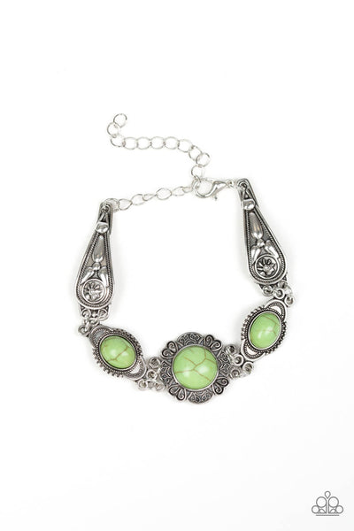 SOLD OUT Paparazzi Serenely Southern - Green Bracelet - Princess Glam Shop