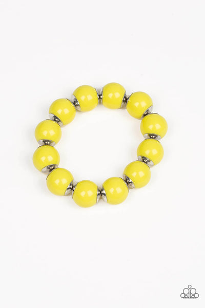 Paparazzi Candy Shop Sweetheart - Yellow Stretchy Bracelet - Princess Glam Shop