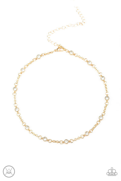 Paparazzi Stunningly Stunning - Gold Choker Necklace Set - Princess Glam Shop