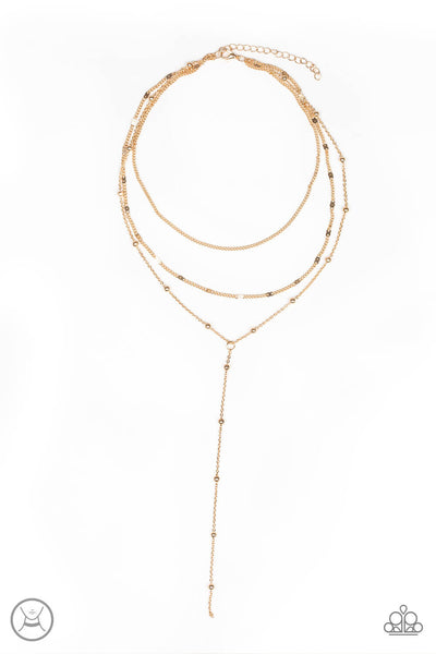Paparazzi Think Like A Minimalist - Gold Multi Chain Necklace Set - Princess Glam Shop