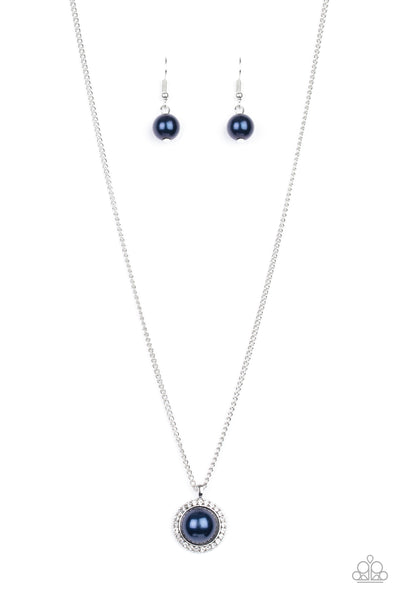 Paparazzi Wall Street Wonder - Blue Necklace Set - Princess Glam Shop