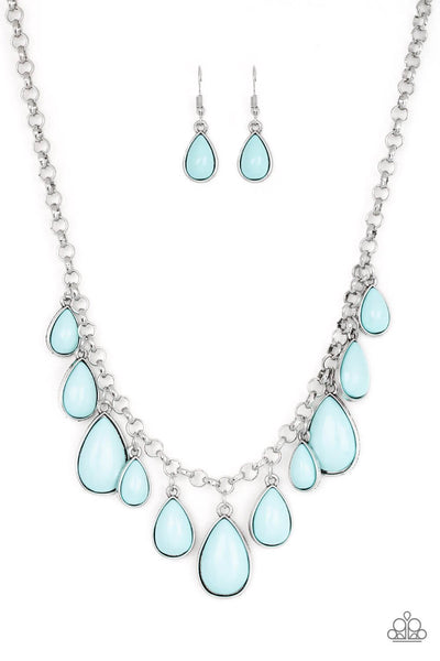 Paparazzi Jaw-Dropping Diva - Blue Necklace Set - Princess Glam Shop