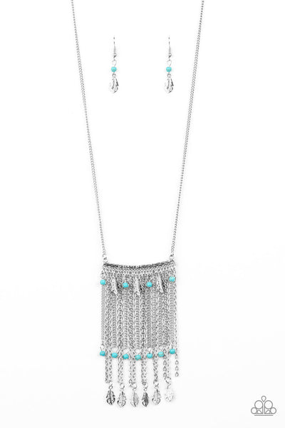 Paparazzi On The Fly - Blue Necklace Set - Princess Glam Shop