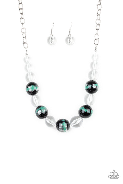 Paparazzi Torrid Tide - Green Necklace Set - Princess Glam Shop