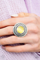 SOLD OUT Paparazzi Garden Garland - Yellow Moonstone Ring - Princess Glam Shop