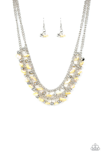 Paparazzi Pebble Pioneer -Yellow Necklace Set - Princess Glam Shop