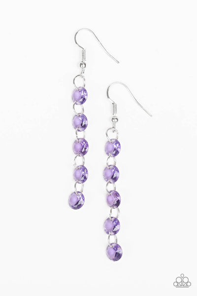 Paparazzi Trickle-Down Effect- Purple Earrings - Princess Glam Shop