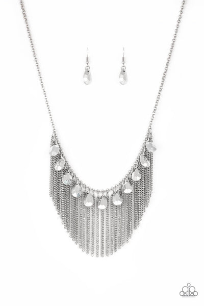SOLD OUT Paparazzi Bragging Rights - Silver Necklace Set - Princess Glam Shop