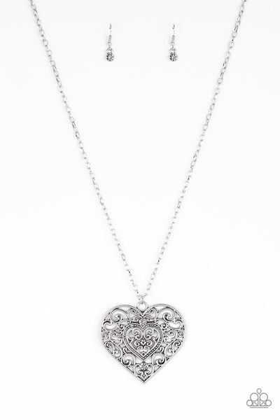 Paparazzi Classic Casanova - Silver Necklace Set - Princess Glam Shop