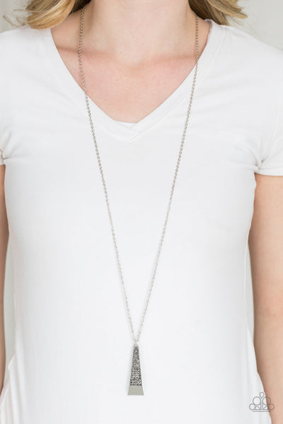 Paparazzi Prized Pendulum Crystal Encrusted Necklace w/ Free Matching Earrings - PrincessGlamShop