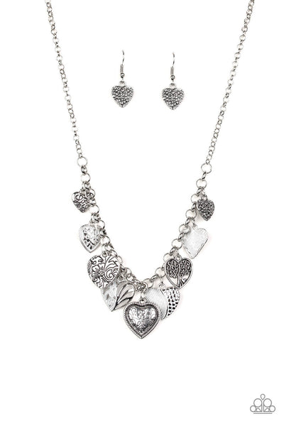 Paparazzi Grow Love - White Heart Necklace Set - Princess Glam Shop